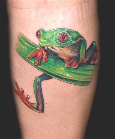 small frog tattoos small green frog tattooimages biz