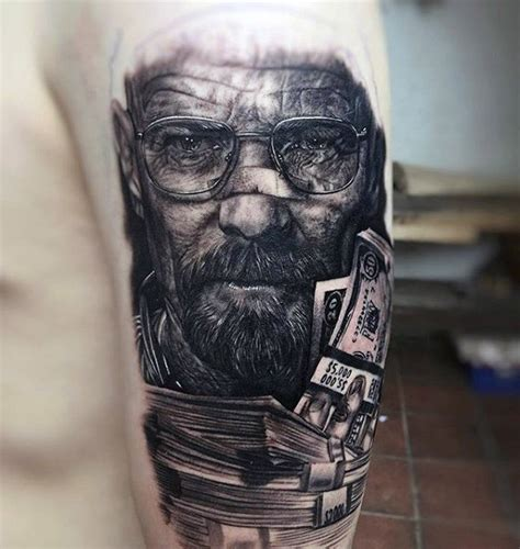 walter white tattoo 50 breaking bad designs for walter white ink