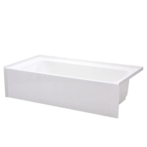 4 foot 6 inch bathtub 4 foot soaker tub kohler greek 4 ft reversible drain
