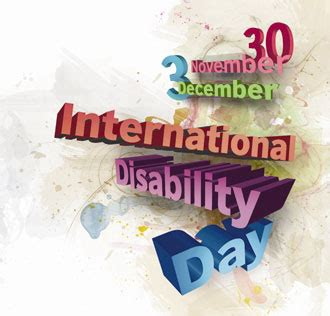 happy international day  people  disability nice wishes