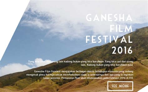 festival film pendek terbaru ganesha film festival 2016 lomba film pendek terbaru dl