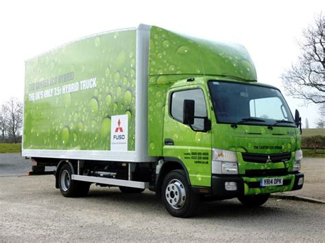 hybrid truck drive fuso canter eco hybrid truck review