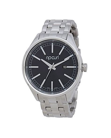 Ripcurl Black Steel rip curl unisex s bailey stainless steel analog