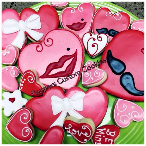 valentines decorated cookies 1000 images about valentines letter decorated