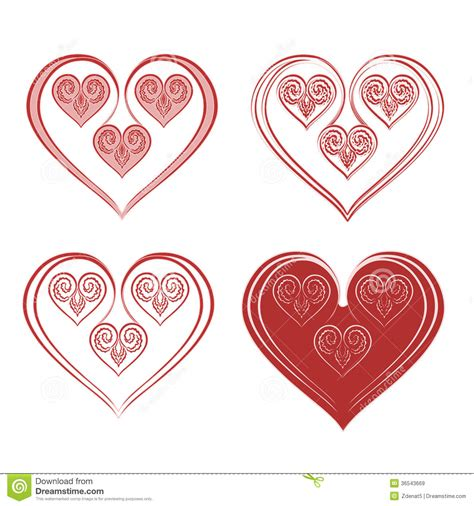 valentines day ornaments of ornaments stock vector image 36543669