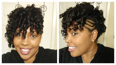 Hairstyles With Perm Rods by Perm Rods On Hair With Cornrows On The Side Supa