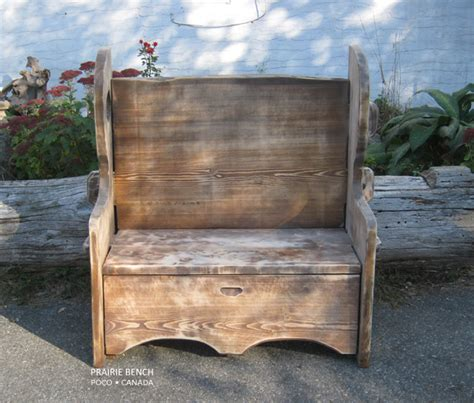 settle benches settle bench rustic finish prairie bench