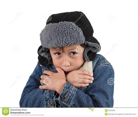 Denim Barn Jacket Freezing Cold Young Boy Stock Photos Image 22152963