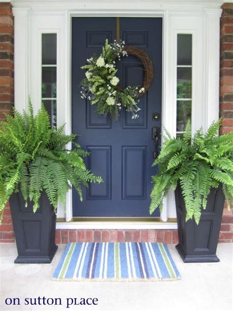 navy front door front door navy blue door for the home pinterest