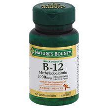 Methylcobalamin Also Search For Nature S Bounty Methylcobalamin Vitamin B 12 1000 Mcg