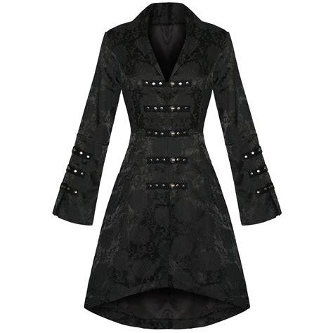 Brocade Jacket new black satin steunk floral