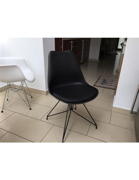 stuhl metallgestell stuhl schwarz modern gepolstert stuhl gepolstert mit