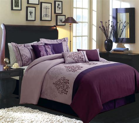 dark purple comforter bedroom modern dark purple bedding set for queen and king