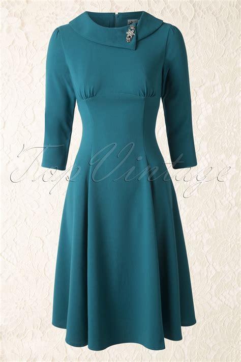 Dress Benita 50s benita dress in teal