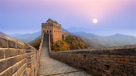 great wall  china sunrise wallpapers hd wallpapers