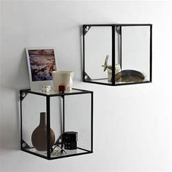 wall display shelves glass display shelf