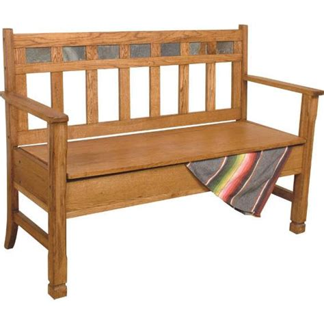rustic oak slate collection rustic oakdeacon s bench w