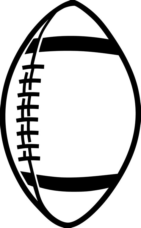 Football Clipart Black and White - Clipartion.com
