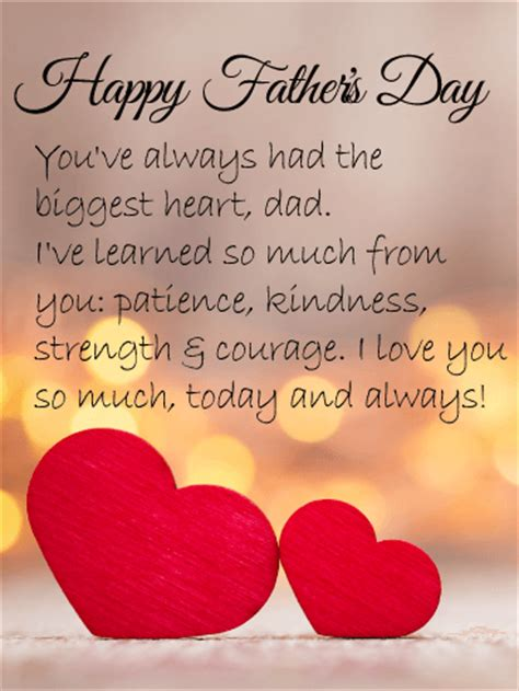 love  dad happy fathers day card birthday greeting cards  davia