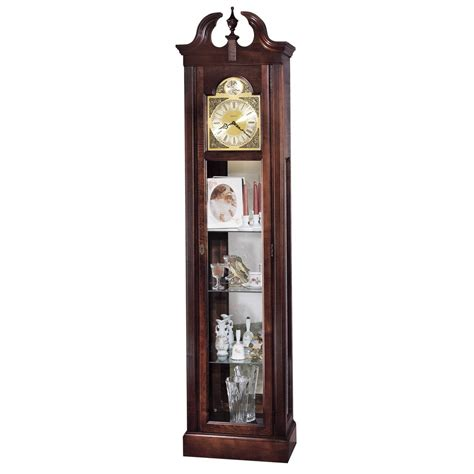 grandfather clock curio cabinet howard miller cherish curio floor clock 610614