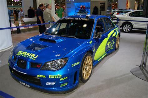 subaru world subaru world rally team team race car ny auto show 2006
