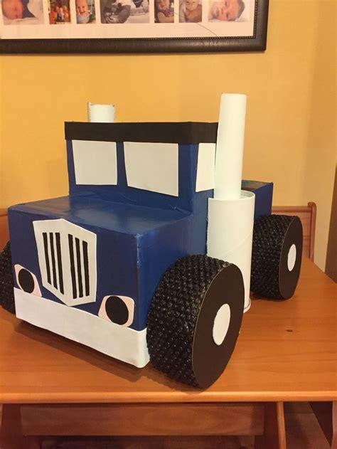 monster trucks blaze  crusher   cardboard boxes