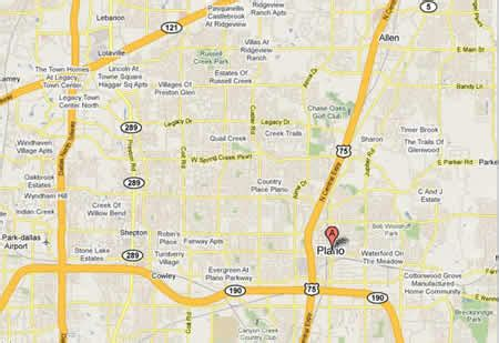 map of plano and surrounding areas plano map