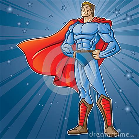 toon hero stock photography image