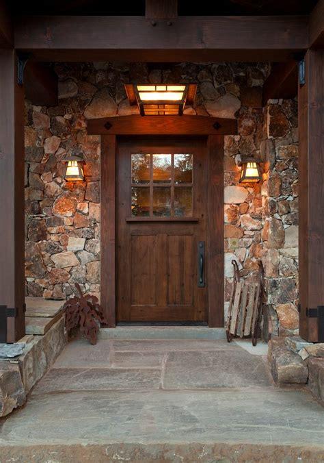Stone Around Front Door Entry Craftsman With Wood Door Around Front Door