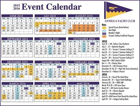 The Events Calendar Antigua News Ayc Event Calendar For 2015 16
