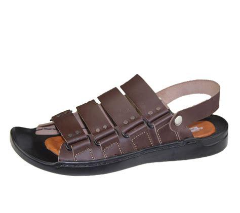 slipper sandals mens sandals casual walking slipper leather