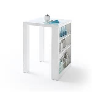 White Breakfast Bar Table Club Square High Bar Table In White Gloss And Glass With
