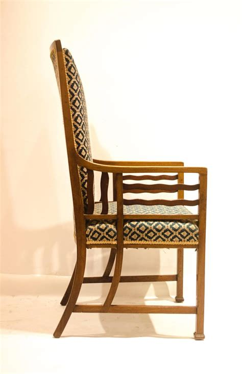 japanese armchair anglo japanese walnut armchair attributed to liberty and