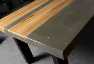 Metal Top Kitchen Table Concrete Wood Steel Dining Kitchen Table