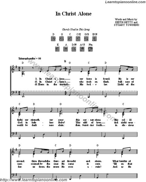 keith getty  christ   piano sheet  learn   play piano