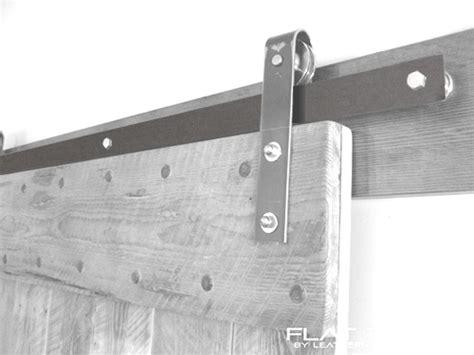 Brushed Nickel Barn Door Hardware Leatherneck Brushed Nickel Finish Flat Track For Barn Doors
