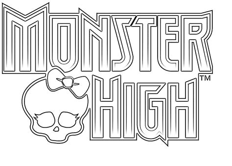 monster high symbol coloring pages free monster high logo coloring pages