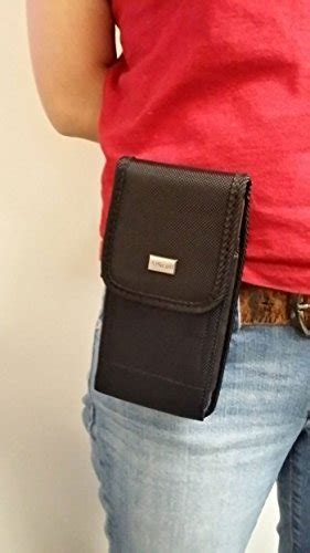 aiscell universal metal belt clip holster  extra large phone rugged nylon pouch case fits