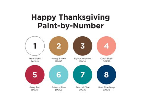 paint by number thanksgiving turkey placemat project by decoart