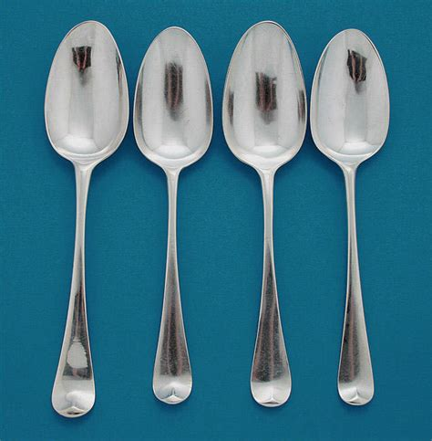 george ii silver scroll back shell back tablespoons m