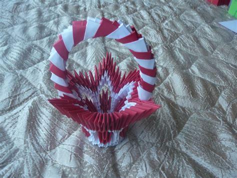 3d Origami Flower Basket - flower basket album kaleia 3d origami