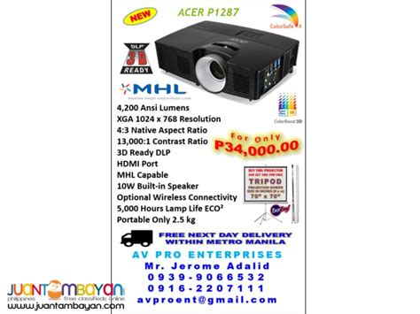 Proyektor Acer Predator Z650 acer predator z650 gaming projector mandaluyong city