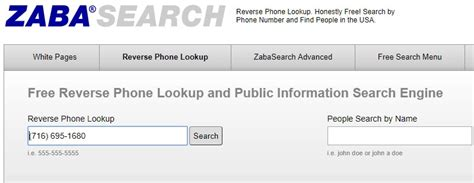 Zabasearch Phone Number Lookup Search Phone Numbers Addresses In Us With Zabasearch