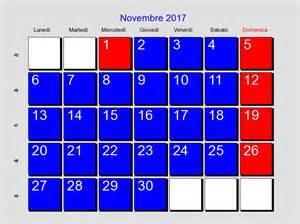 Calendario 2018 Novembre Calendario Novembre 2017 Con Festivit 224 E Fasi Lunari