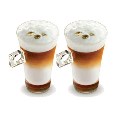 Coffee Glass 2 x nescaf 233 dolce gusto latte macchiato cappuccino coffee cup glass drink mugs ebay