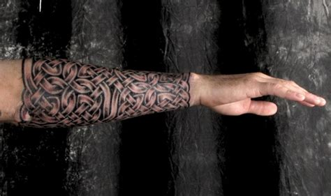 irish tattoos for men arm awesome celtic gauntlet sleeve for on forearm