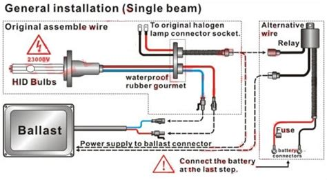 hid wiring diagram without relay wiring diagram