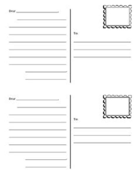 printable postcard template ks2 free letter writing outline paper great for a friendly