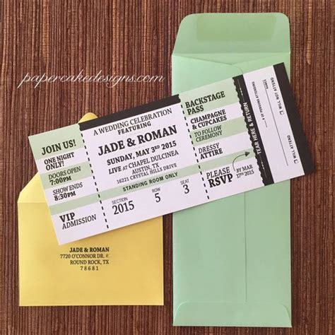 printable tear off tickets concert ticket invitation with rsvp tear off stub