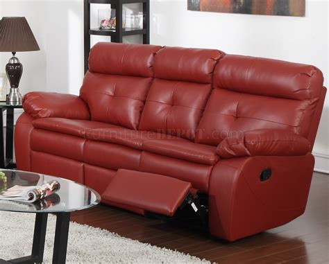 Red Sofa Recliner by G570a Reclining Sofa Amp Loveseat In Red Bonded Leather By Glory